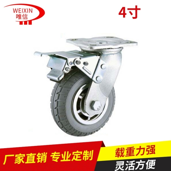 依据运用的不一样挑选工业生产脚轮